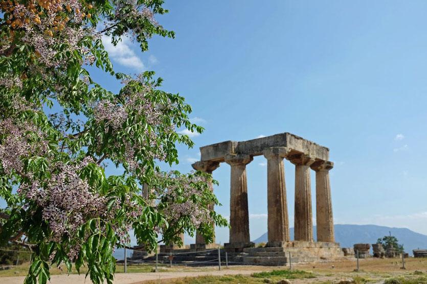 Apollon-Tempel, Antikes Korinth Peloponnes