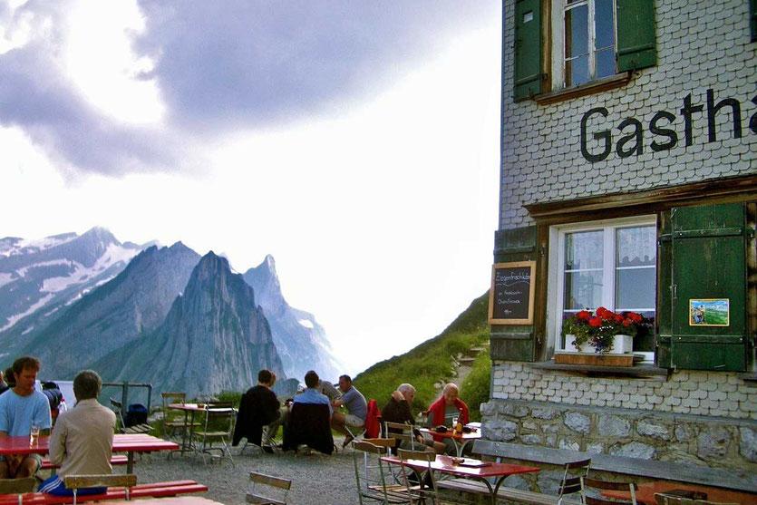 Säntis Blick Berggasthaus SCHÄFLER Appenzell Alpstein