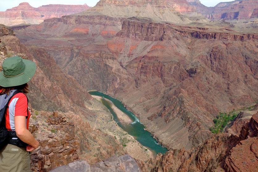 Colorado River vom South Kaibab Trail Grand Canyon Wanderung