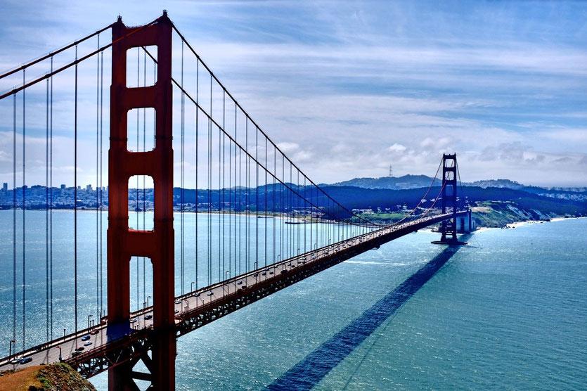 Golden Gate Bridge San Francisco von 1937 Battery Spencer