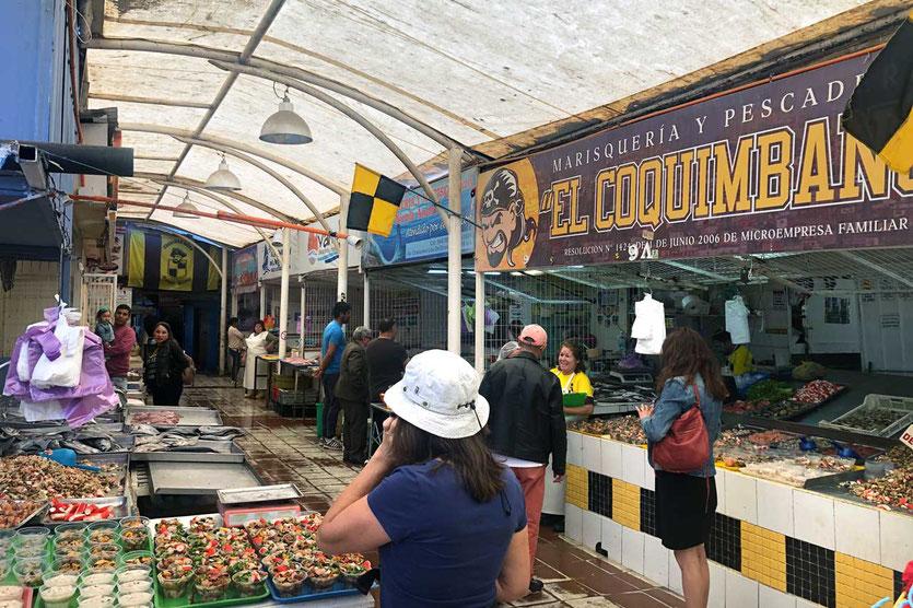 rustikaler Fischmarkt von Coquimbo
