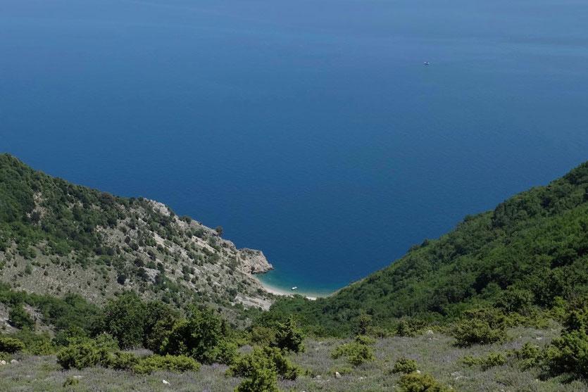 Strände auf Insel Cres Kroatien