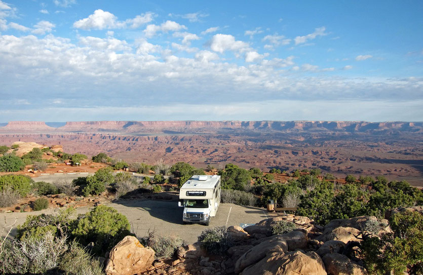 USA Nationalpark mit Wohnmobil Canyonlands Needles Overlook