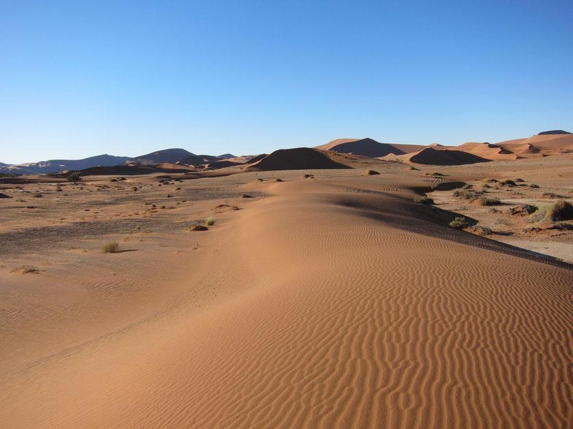 Sossusvlei Namibia kleine Dünen