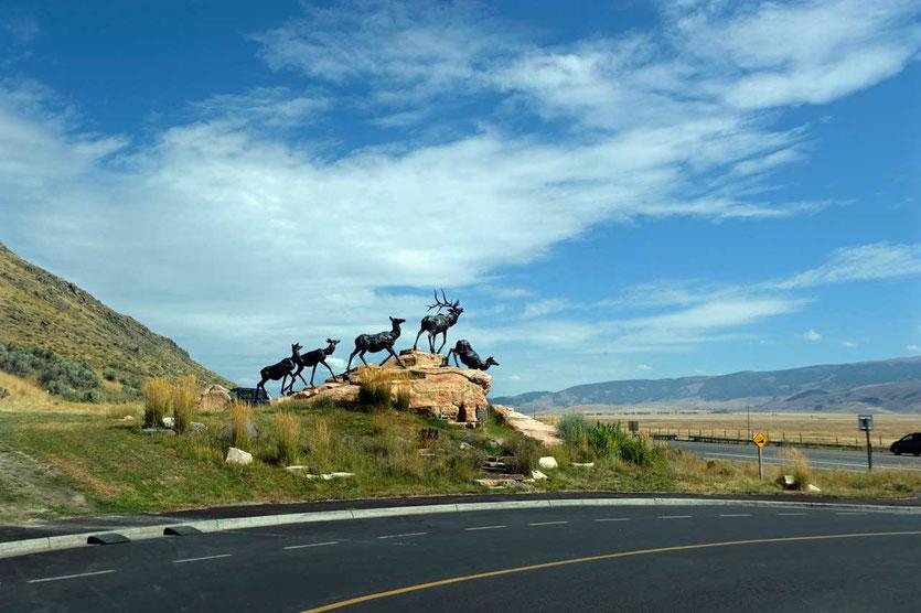 Wapiti Hirsche SkulpturNational Museum of Wildlife Art Jackson Hole Grand Teton