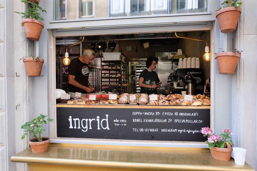 Ingrid Cafe Bäckerei Stockholm Kanelbullen Zimtschnecke