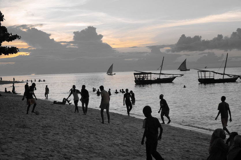 Stone Town beach on Sunset, Zanzibar