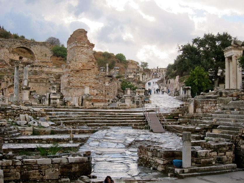 Kuretenstrasse in Ephesus, Türkei