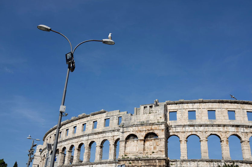 Besuch Pula Arena Amphitheater