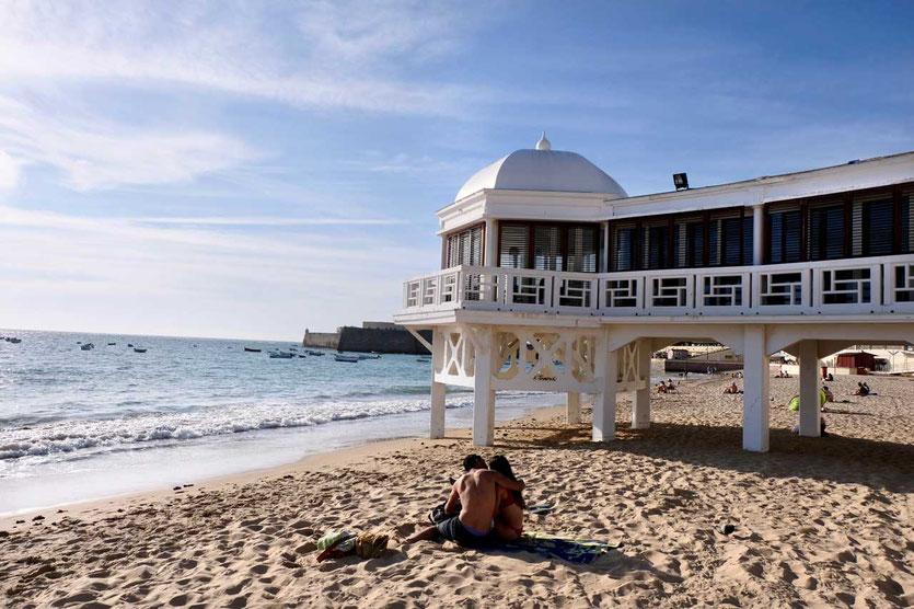 Playa La Caleta Altstadtstrand von Cadiz