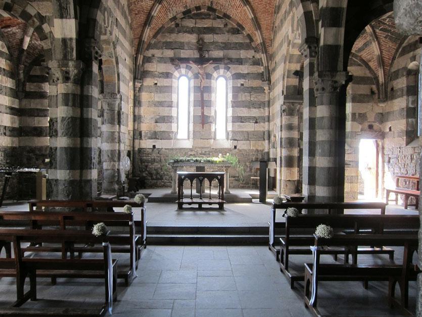 Kirche San Pietro, Portovenere Ligurien