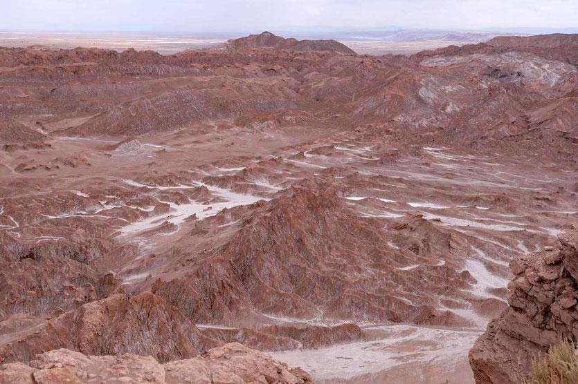Mondähnliche Landschaft im Valle de la Luna, Atacama
