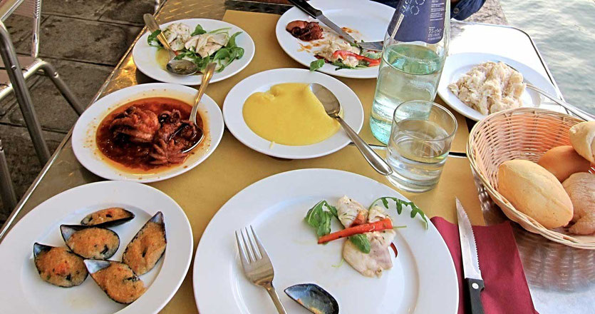 Fisch Menü Restaurant Dalla Marisa Venedig