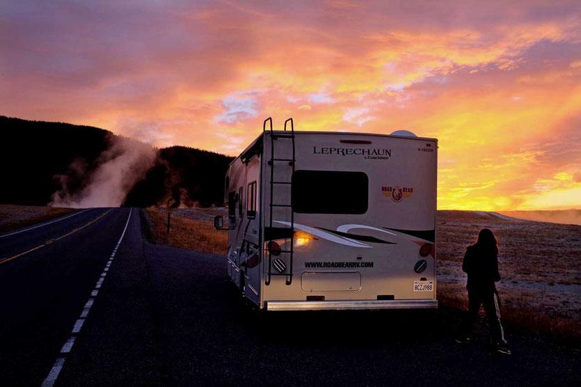 Yellowstone mit dem Wohnmobil