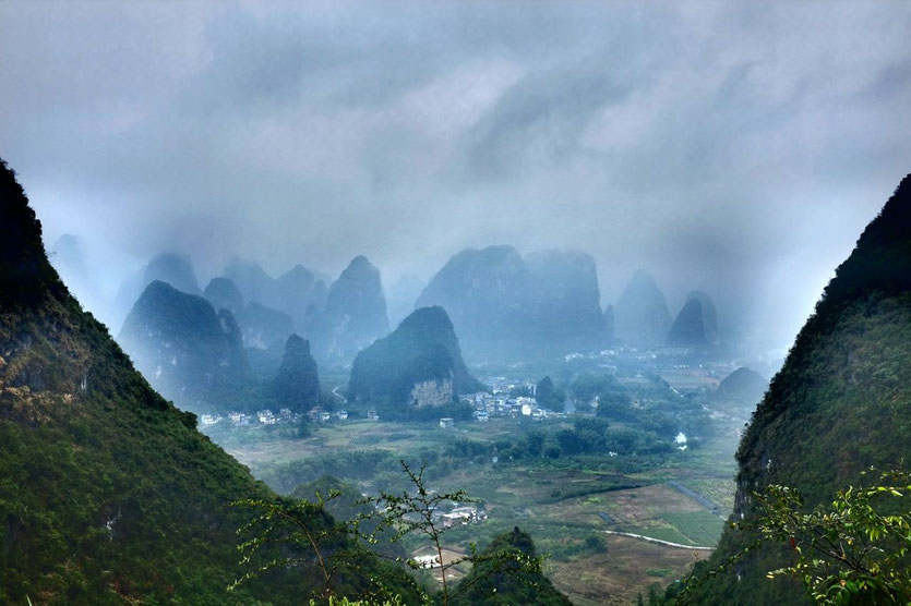 view from Moon Hill in Yangshuo