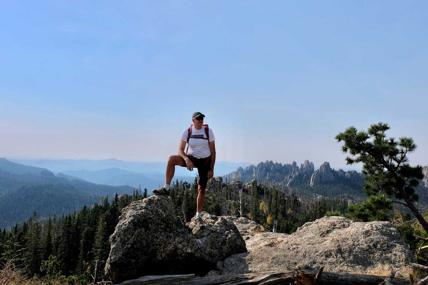 Wanderung zum Black Elk Peak Black Hills South Dakota