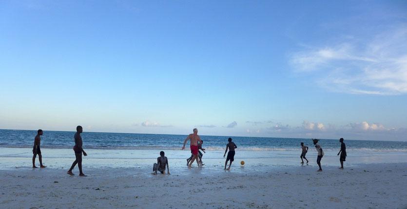 Beach Soccer Zanzibar Matembe Beach Sunset