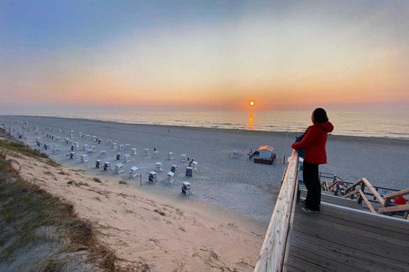 Sonnenuntergang am Westtrand südlich vom Lister Ellenbogen