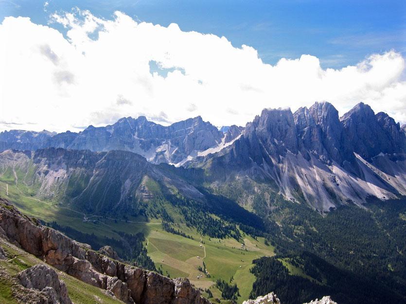 Toller Panoramaweg am Günther-Messner-Steig, Südtirol