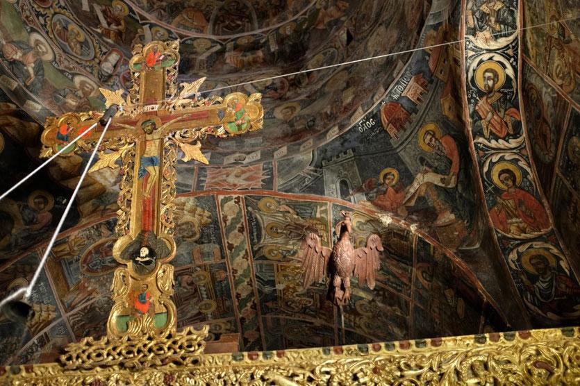 Kloster Dekoulou Fresken, Mani Peloponnes