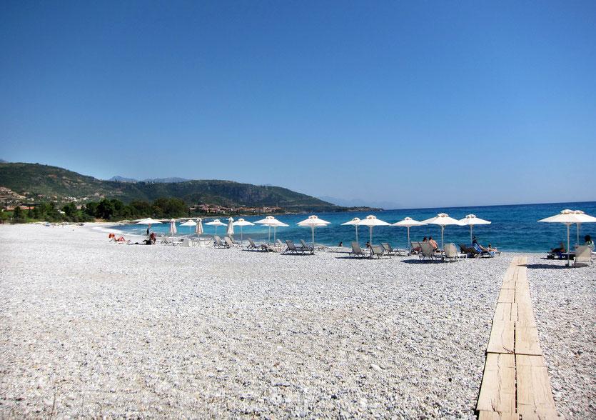 Hotel Elies Kardamili Strand beach, Mani Peloponnes
