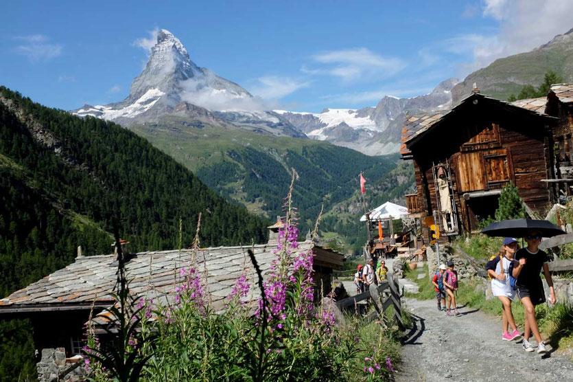 Weiler Findeln in Zermatt Gourmetweg