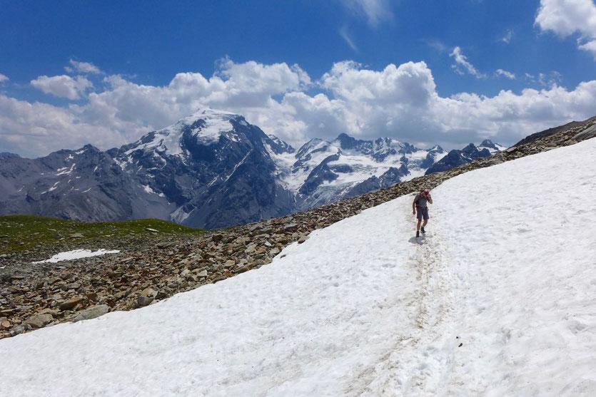 Wanderung Goldseeweg Trafoier Höhenweg Ortler Gruppe Stilfserjoch