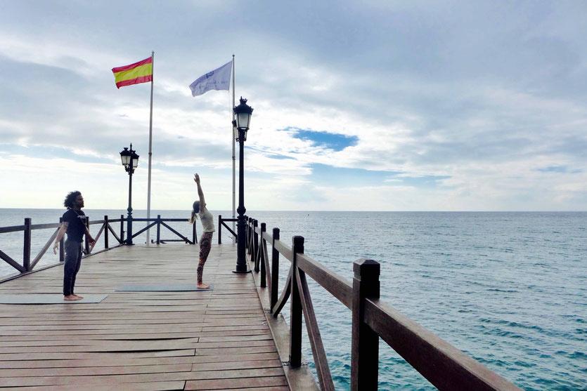 Der Marbella Club Pier am frühen Morgen