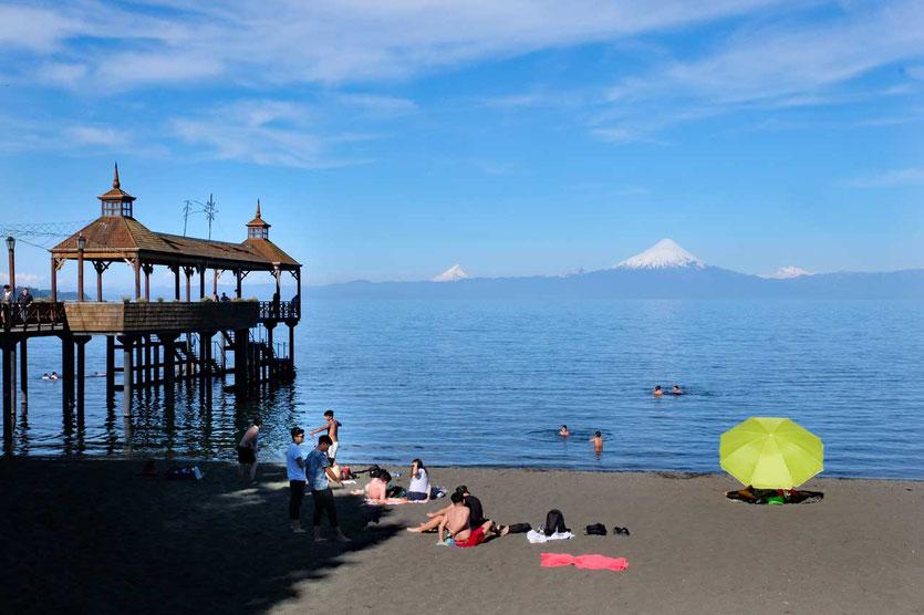 Strandleben in der deutschen Siedlerstadt Puerto Varas