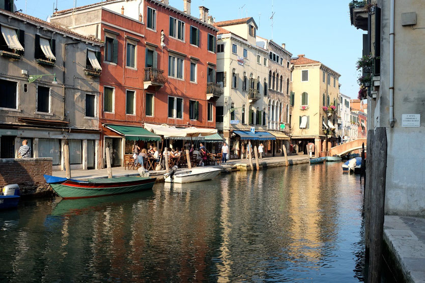 Venedig Bars am canale Cannaregio
