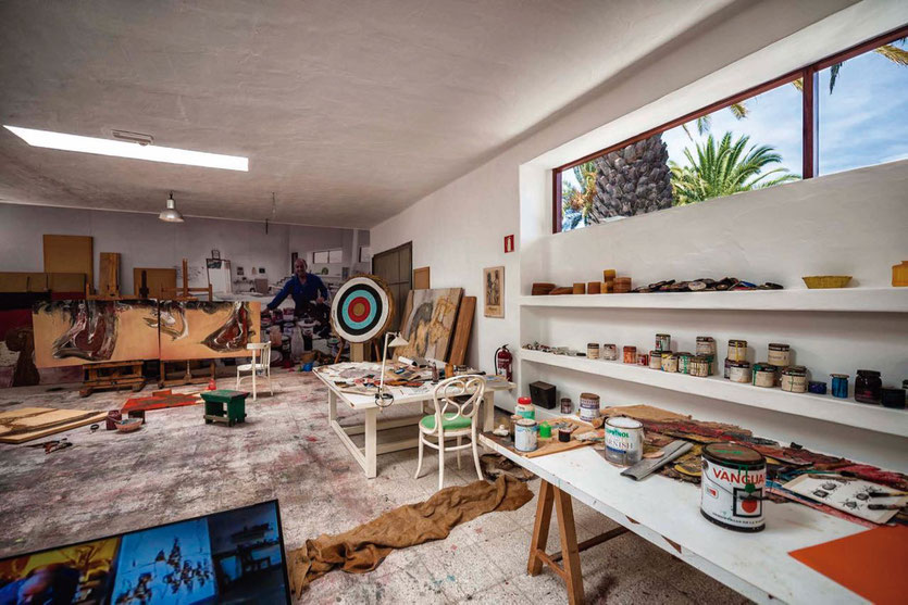 Atelier César Manriques im Privathaus Museum Haría Lanzarote