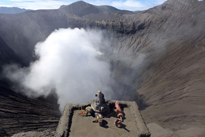 Java Vulkan Kraterrand Bromo Aufsteig Wanderung