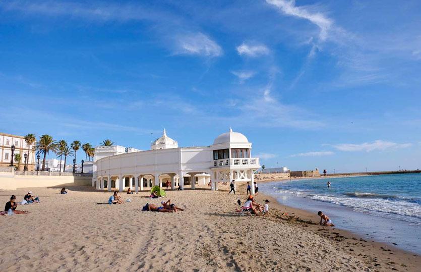 Cadzi Playa de la Caleta Badehaus aus dem 19. Jahrhundert