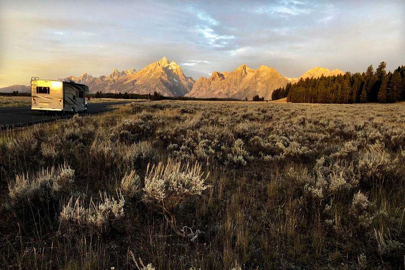 Sonnenaufgang Grand Teton Nationalpark