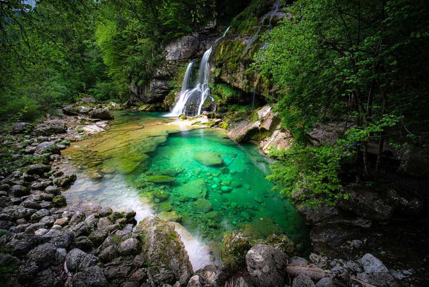 Virje Wasserfall  Soca Tal Slowenien