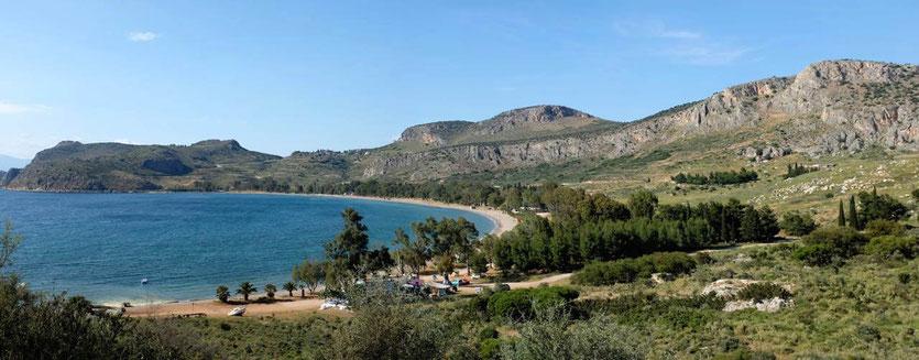 Karathona Bucht – Strand von Nafplion, Peloponnes