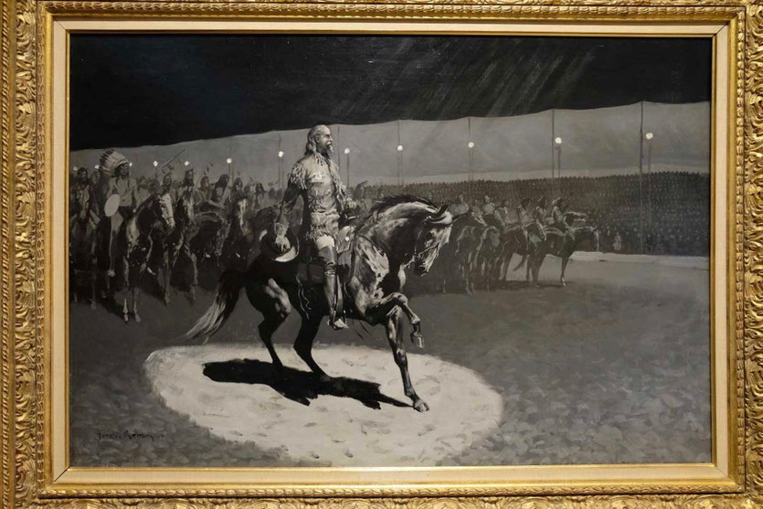 """Buffalo Bill im Rampenlicht"" Gemälde Frederic Remington Buffalo Bill Center of the West"