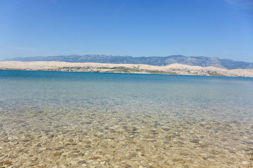 Insel Pag Strände  Kroatien