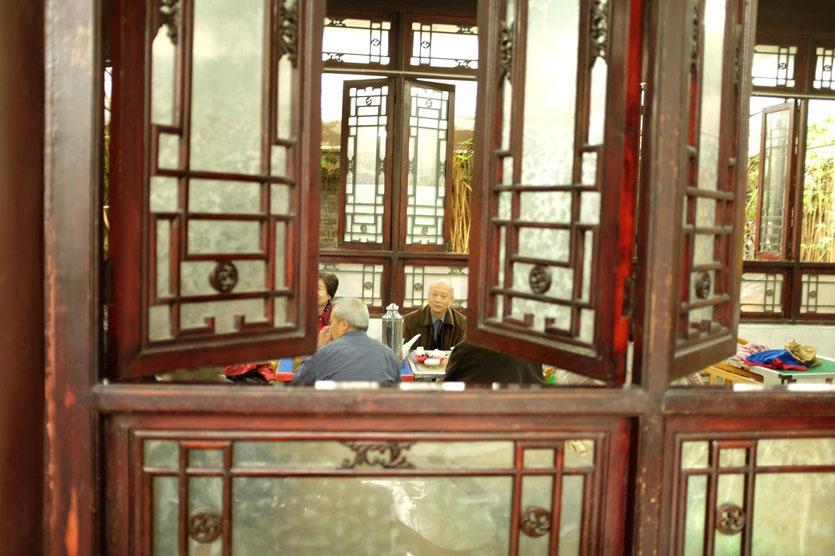 Chengdu teahouse, renmin park. people's park