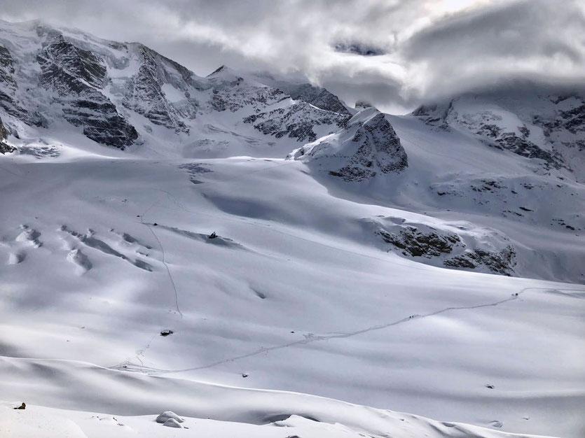 Engadin Diavolezza - Blick auf Pers-Gletscher