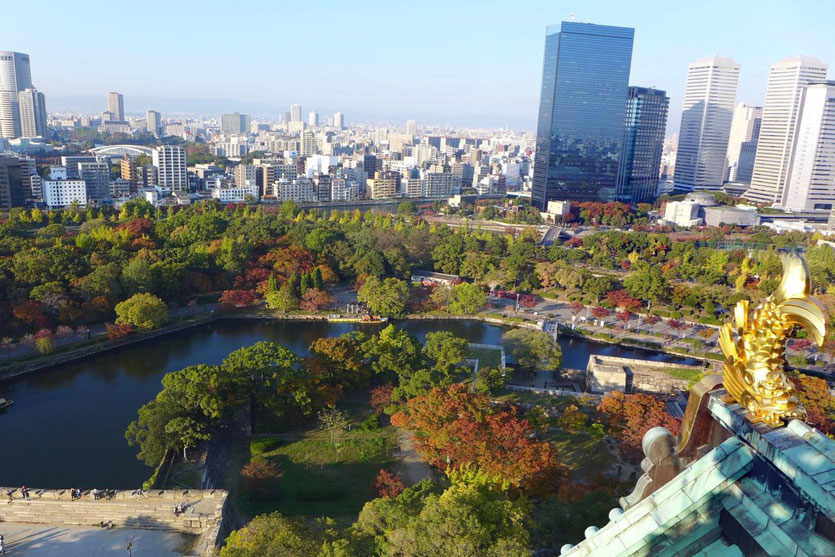 Burg Osaka Castle View deck park