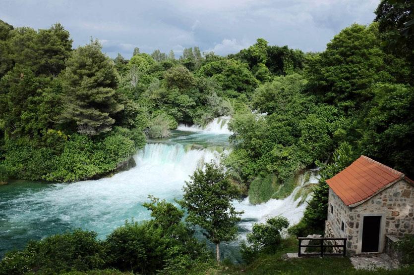 Kroatien Nationalpark Krka Wasserfälle