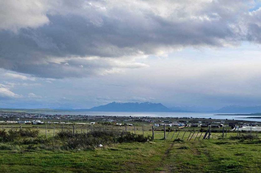 Ausblick von Unterkunft Cabañas Kauken, Puerto Natales