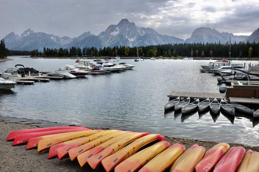 Kanu Kayak Colter Bay Marina, Jackson Lake Grand Teton