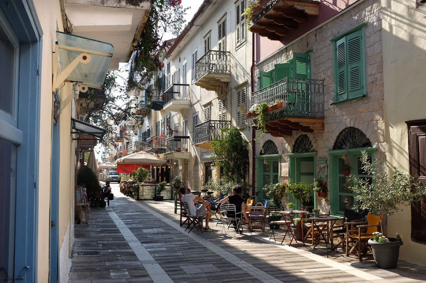Nafplio old town Peloponnes Naflpoin