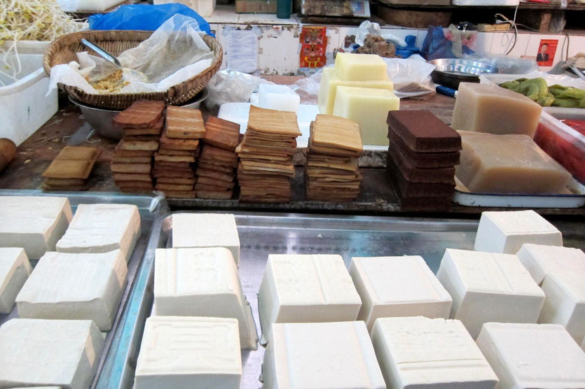 market place Chengdu Tofu
