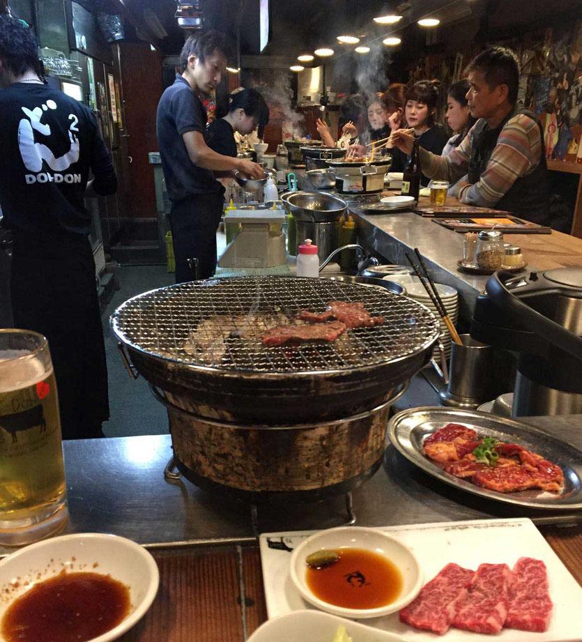 Japan Kobe BBQ Yakiniku grill restaurant Don Don Osaka