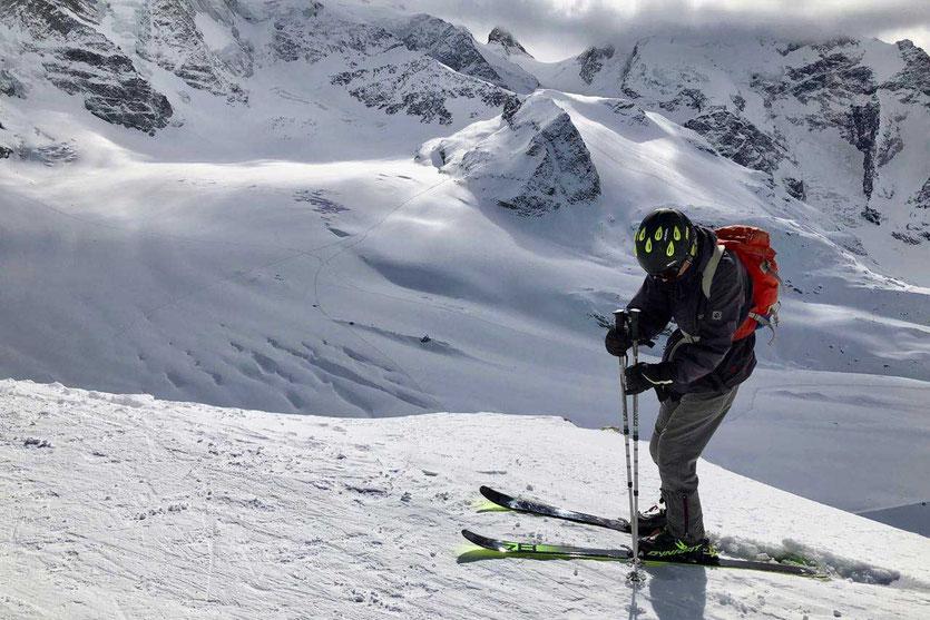 Diavolezza Gletscherabfahrt, Schweiz Oberengadin
