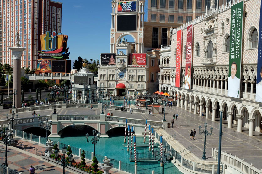 Rialto Brücke und Dogenpalast, The Venetian Hotel Las Vegas