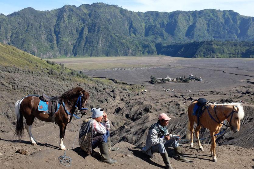 Bromo crater Pferde Aufstieg Java Sea of Sand